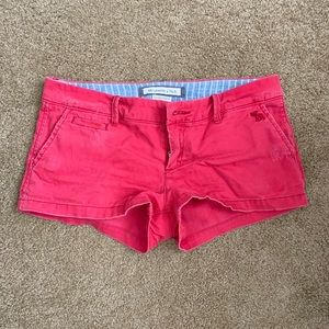 Abercrombie & Fitch Coral Shorts Perfect Stretch